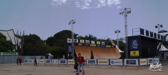 Half-pipe do Circuito Banco do Brasil no Campo de Marte em São Paulo